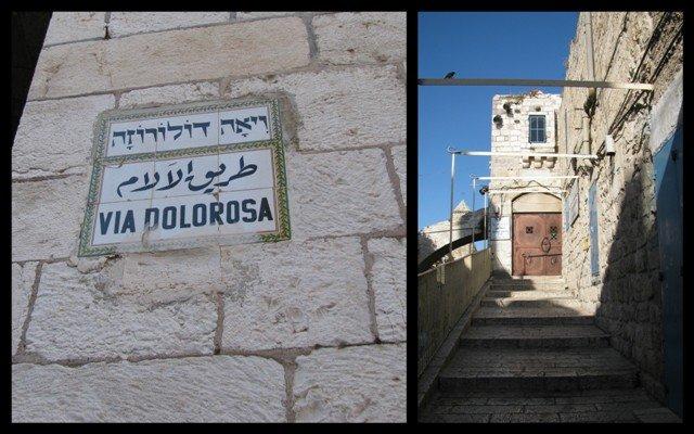 Via Dolorosa em Jerusalém