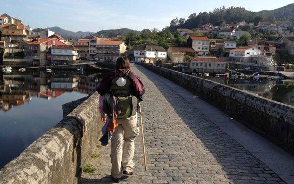 Peregrina no Caminho Português de Santiago
