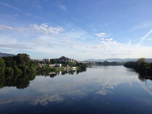Caminho Português de Santiago, rio Minho em Tuí