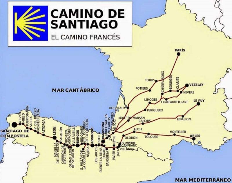 mapa-caminho-santiago-frances