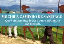 mochila para o Caminho de Santiago