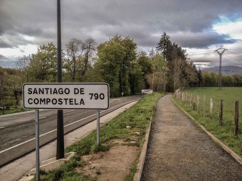 Roncesvalles, saída da cidade no Caminho Francês de Santiago