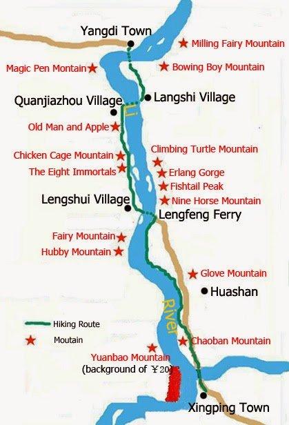 Mapa do Trekking do Rio Lí