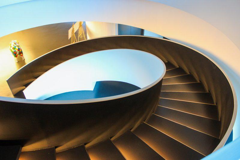 Lalín escada interior do castro tecnolóxico