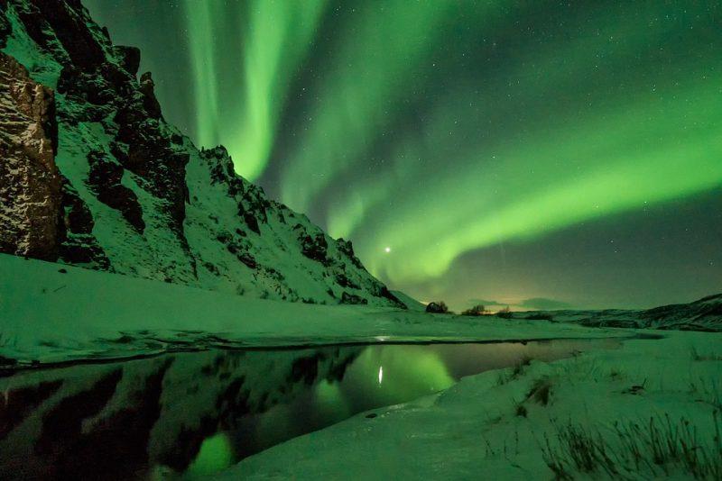 melhores locais para ver aurora boreal