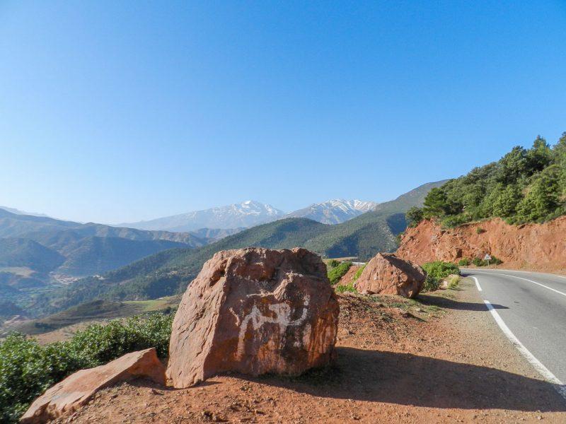 Estrada no Alto Atlas - Roteiro Marrocos
