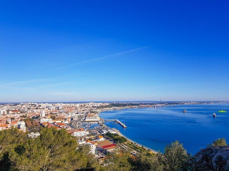 Passeios perto de Lisboa - Setúbal vista do Forte de São Filipe